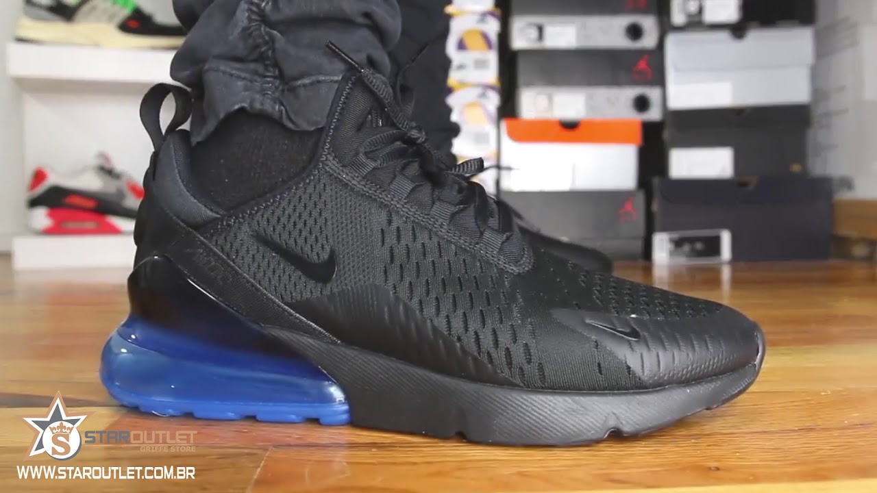 Nike Air Max 270 Black Blue On Feet Youtube