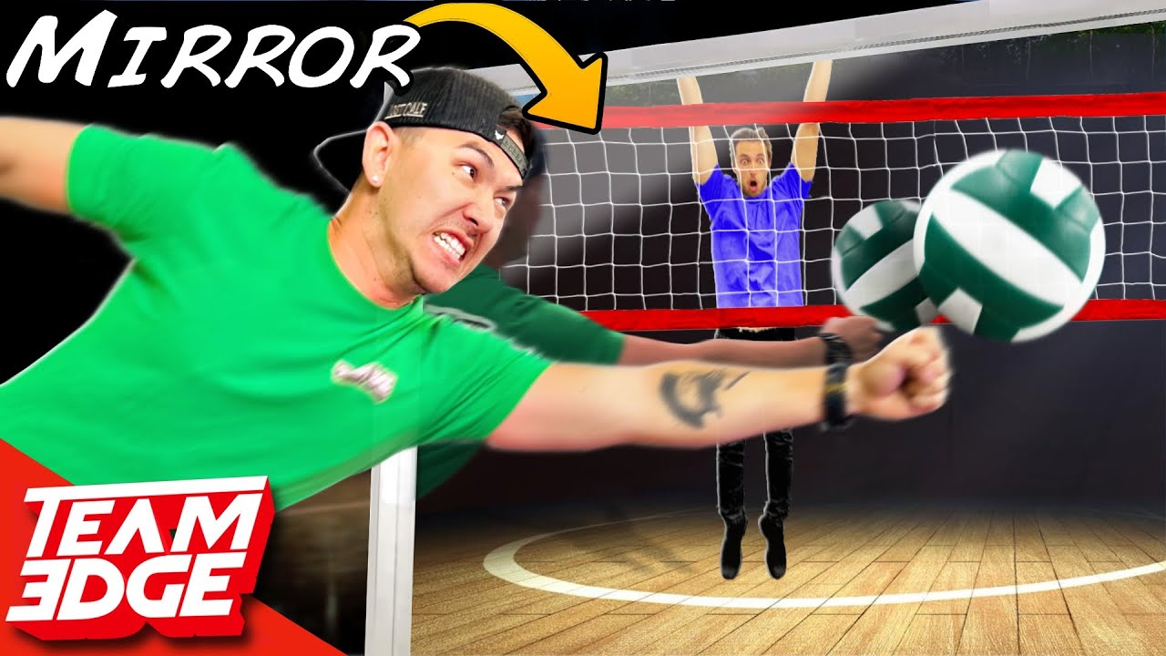 Playing Volleyball But in a MIRROR!! *Incredibly Confusing*