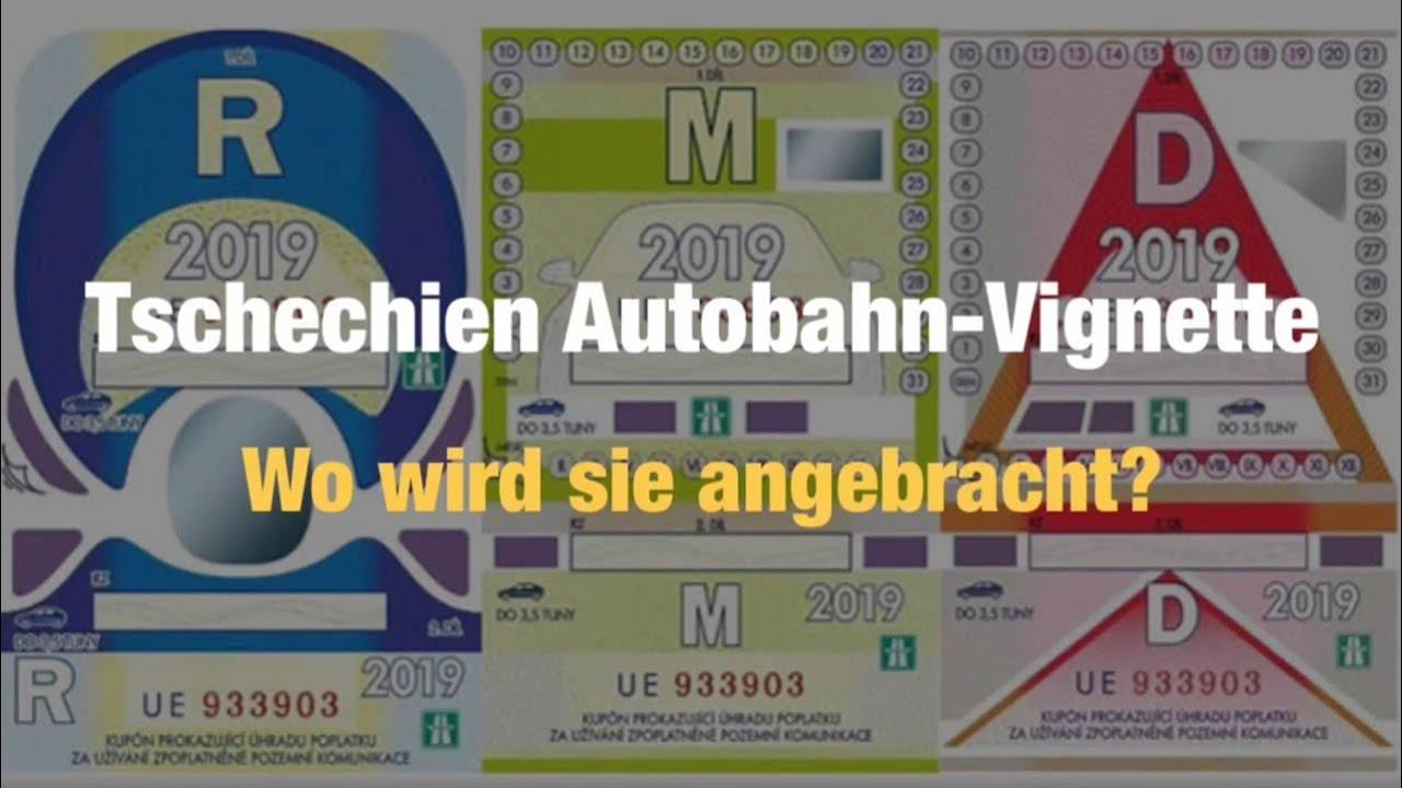 Autobahn Vignette Tschechien Wie Wird Sie Aufgeklebt In 2 Minuten Alles Erklärt