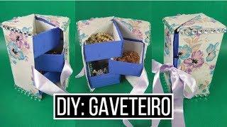 Como fazer um gaveteiro com caixa de leite e papelão