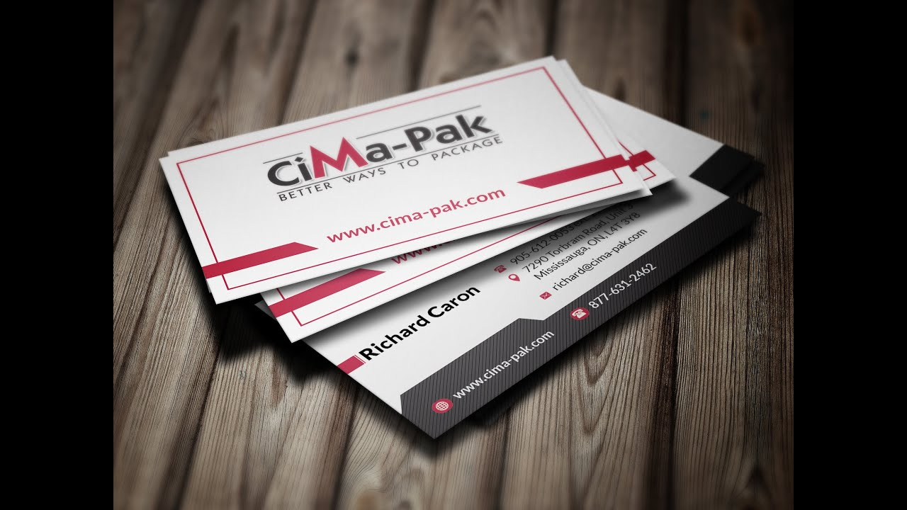 Business Card Tutorial Templates Free PHOTOSHOP CS YouTube - Business card template photoshop psd