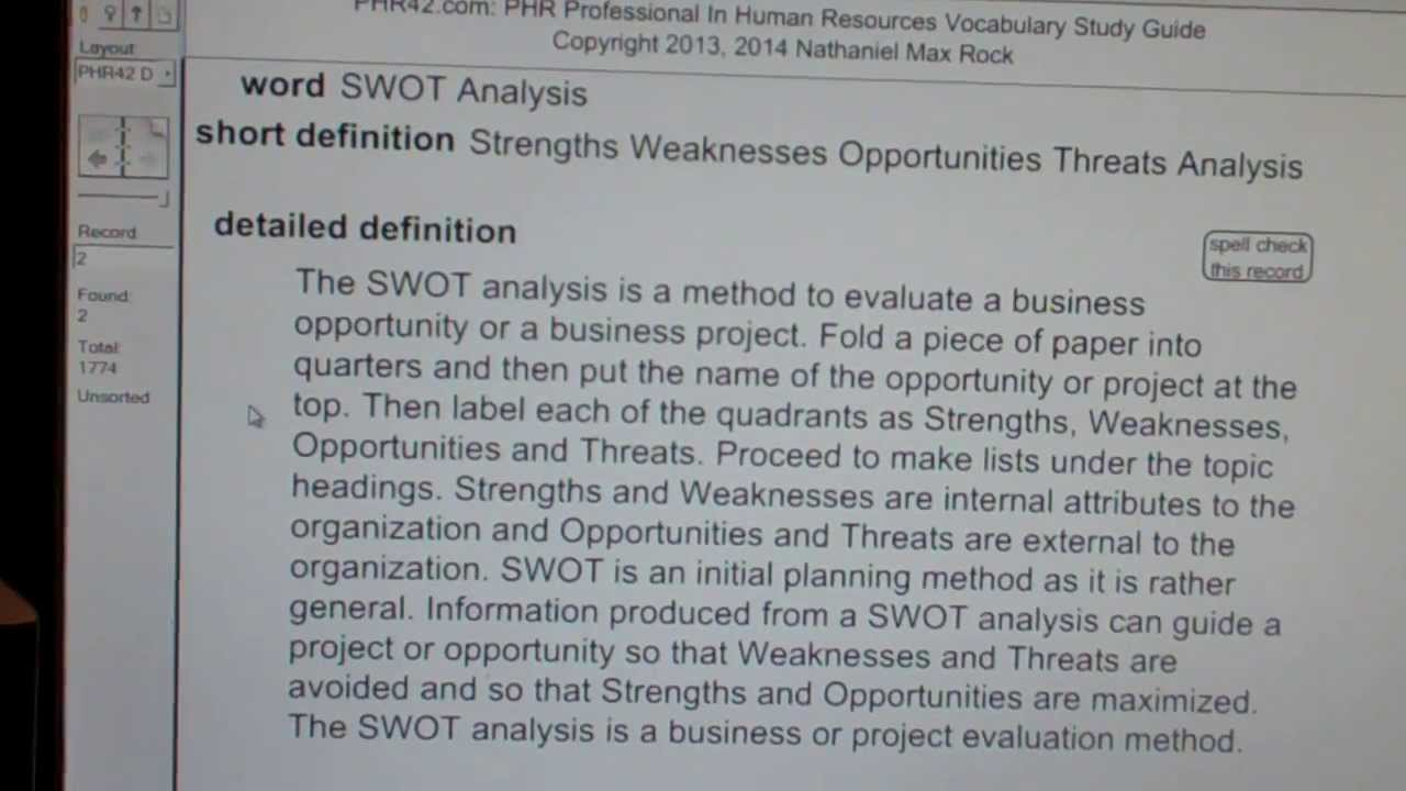 Swot analysis phr sphr professional in human resources license swot analysis phr sphr professional in human resources license exam top pass words vocabubee 1betcityfo Images