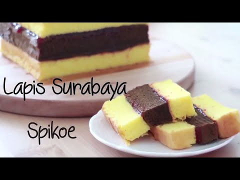 Spiku Lapis Surabaya ( Indonesian Three Layer Cake )