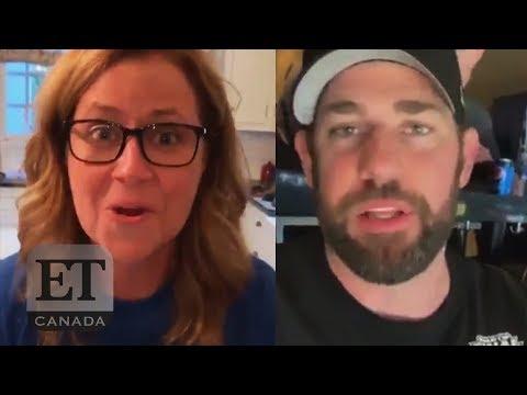 John Krasinski And Jenna Fischer Feud Over NHL Finals