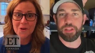 John Krasinski and Jenna Fischer Feud Over NHL Finals