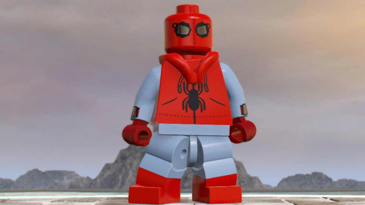lego marvel super heroes 2 spiderman homemade suit