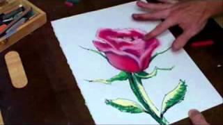 Every Rose has a thorn Original Pastel Art By Joseph Palotas - Time Lapse