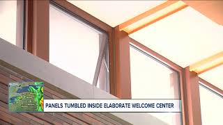 Ceiling panels tumble from new Welcome Center in Grand Island