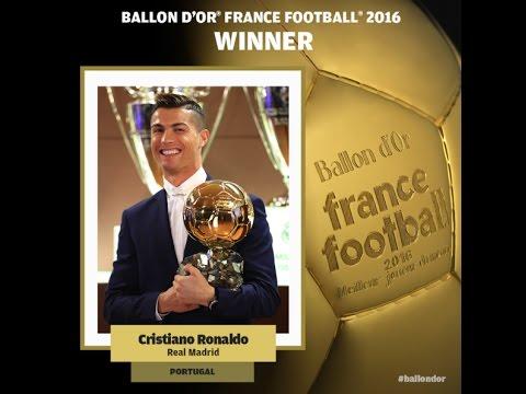 Balón de Oro 2016 Cristiano Ronaldo, CR7 EL 'BICHO DE ORO'   BALLON D'OR FRANCE FOOTBALL 2016