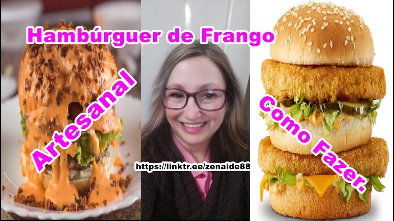Hambúrguer de Frango Artesanal Como Fazer em casa