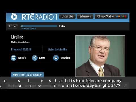 CareLink Monitored Alarm Button Call  (Joe Duffy Liveline RTE Radio1)