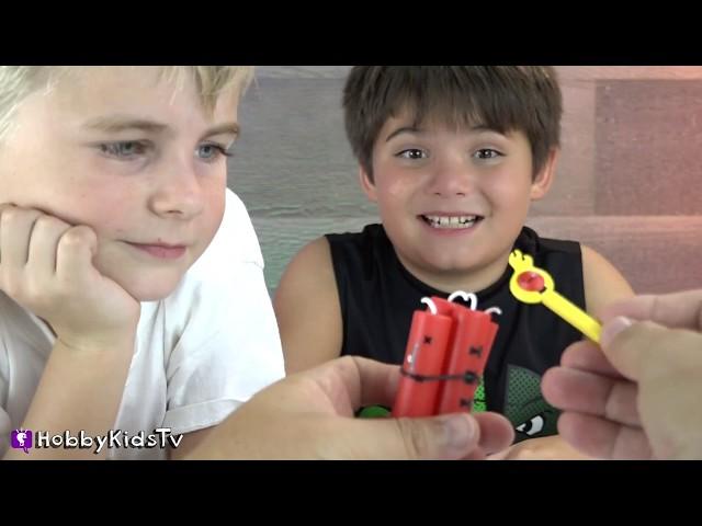 HobbyDad's Tummy is Full of Surprise Toys! HobbyKids Pull Prizes Out? HobbyKidsTV