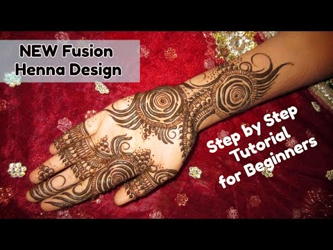 Latest Gulf Style Semi Traditional Floral Mehndi Designs for Hands for Wedding- Fusion Henna Art for