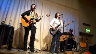 "The Haley Sisters sing, ""Would you lay with me in a field of stone""."
