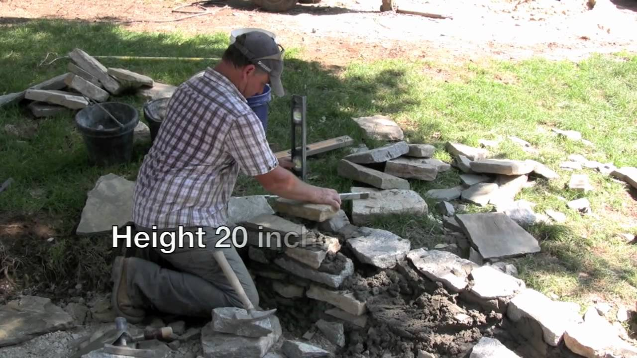 How To Build A Double Faced Stone Wall