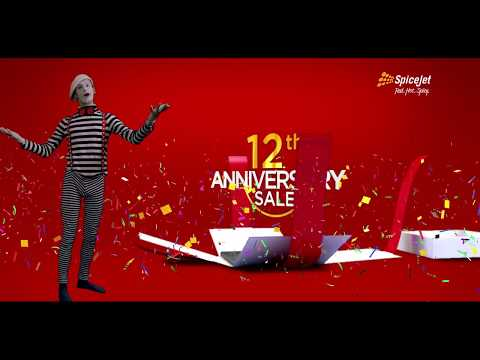 SpiceJet 12th Anniversary Sale, Base Fares Starting at ₹12
