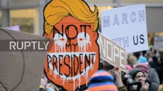 USA  600,000 march against Trump in NYC