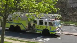 Emergency Vehicle Action- Ladder Truck Jake Brake, E-511 & Ladder Responding, Police SUVS