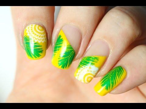 Si le Joueur du Grenier faisait du nail art ! (Nail-art tropical)