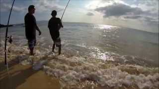 Shore fishing in Hawaii with GoPro