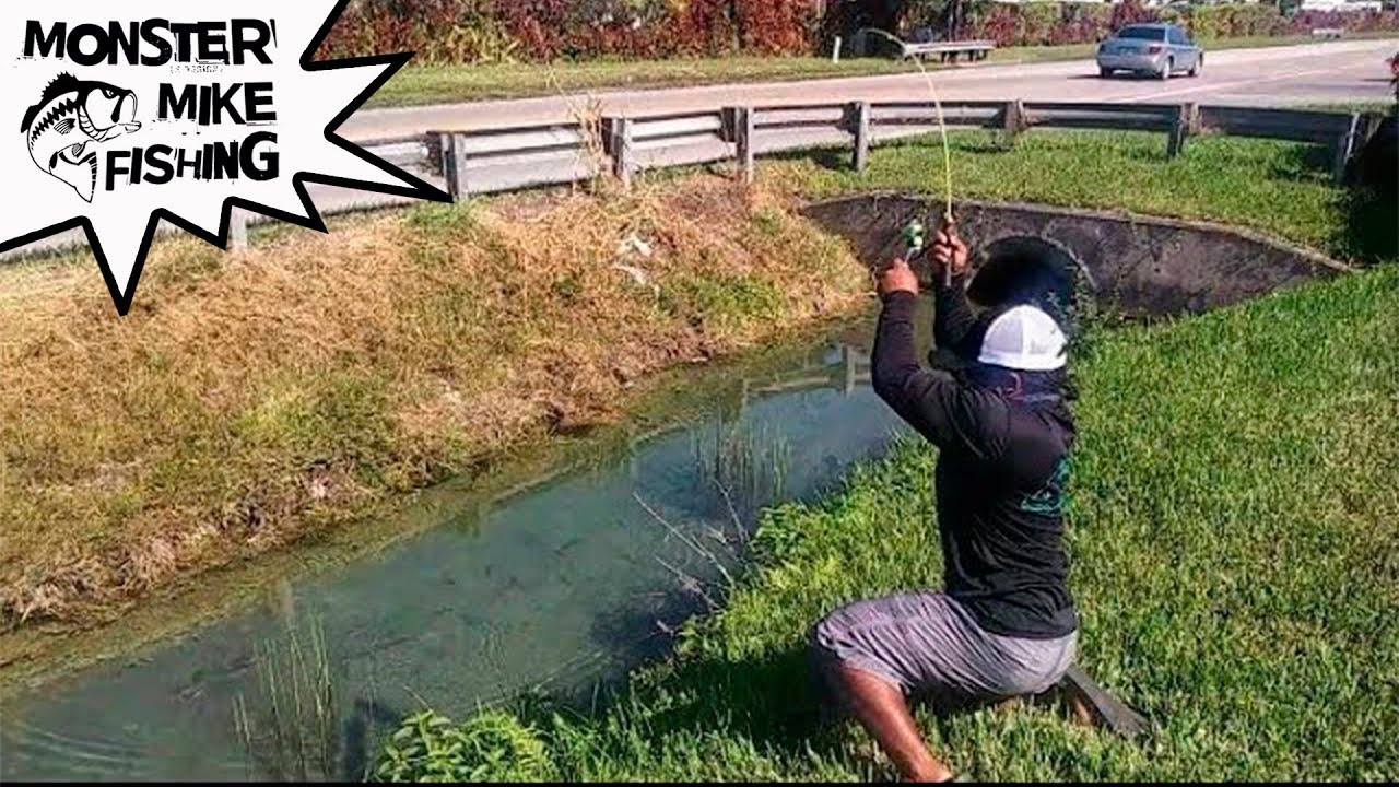 Crystal Water DITCH Fishing What Did I Catch Monster Mike