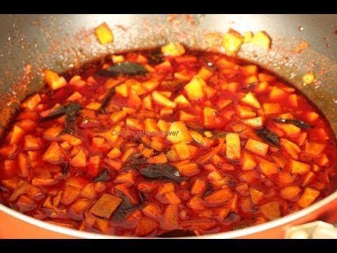 Instant Mango Pickle Recipe l Cut Mango Pickle l Pacha Manga Achar