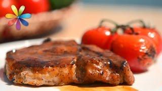 Стейк из свинины в медово-горчичной глазури. Идеальный рецепт для пикника