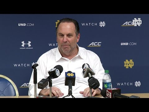 @NDMBB | Mike Brey Press Conference vs North Carolina 2018