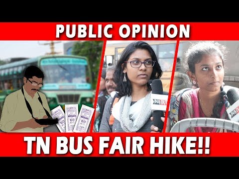 Public Opinion on Tamil Nadu Bus Fare Hike | TN Government Increases Bus Fare | AIADMK