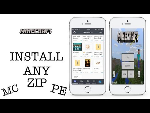 MCPE HOW TO INSTALL ANY . ZIP FILE ON IOS DEVICES FOR MINECRAFT POCKET EDITION (NO JB/PC)