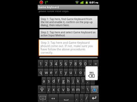 How To Use Game Keyboard(QWERTY/controller)