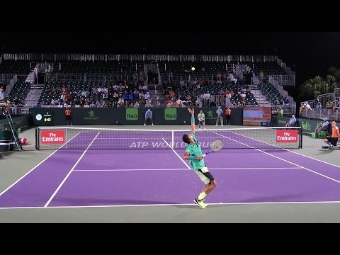 Nick Kyrgios v. Damir Dzumhur (Court Level View) 60FPS HD| Miami Open 2017 R2