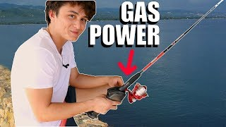 Gas Powered Fishing Pole