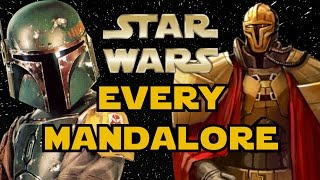 Every Mandalore in Star Wars History - Star Wars Explained