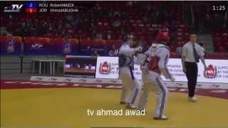 Repeat youtube video احمد ابو غوش (JOR) روبرت امزوي (ROU) في بطولة العالم للتايكواندو 2015