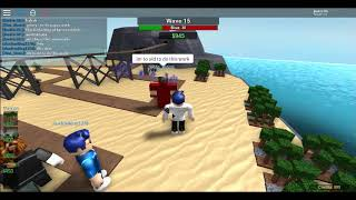 Roblox (Tower Battles)Playing with the commando and king of the bacon soldiers!
