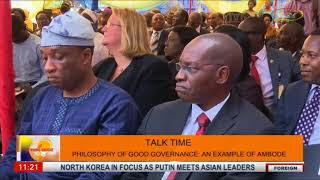 TalkTime: Philosophy Of Good Governance, An Example Of Ambode