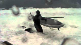 Alaska Pacific eider hunt  Paddle board hunt Adak Island part #1