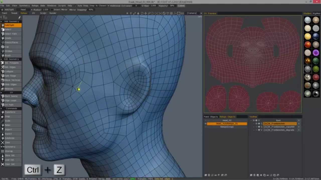 Welding Vertices In The Retopo Room With Move Elements
