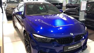 BMW M4 CS - Машина которую никогда не дадут на тест-драйв.  Цвет San Marino Blue.