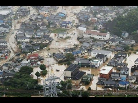 上空から見た豪雨被害=広島