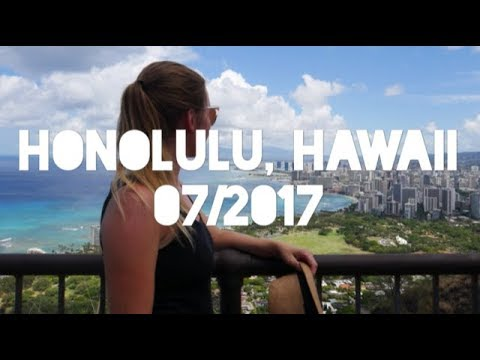 Honolulu, Hawaii, U.S.A || 07/2017 || Diamond head, Aloha tower, Waikiki beach, downtown