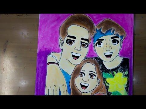 Sketch diksha , rishidev and sanjay (rimorav vlogs ...
