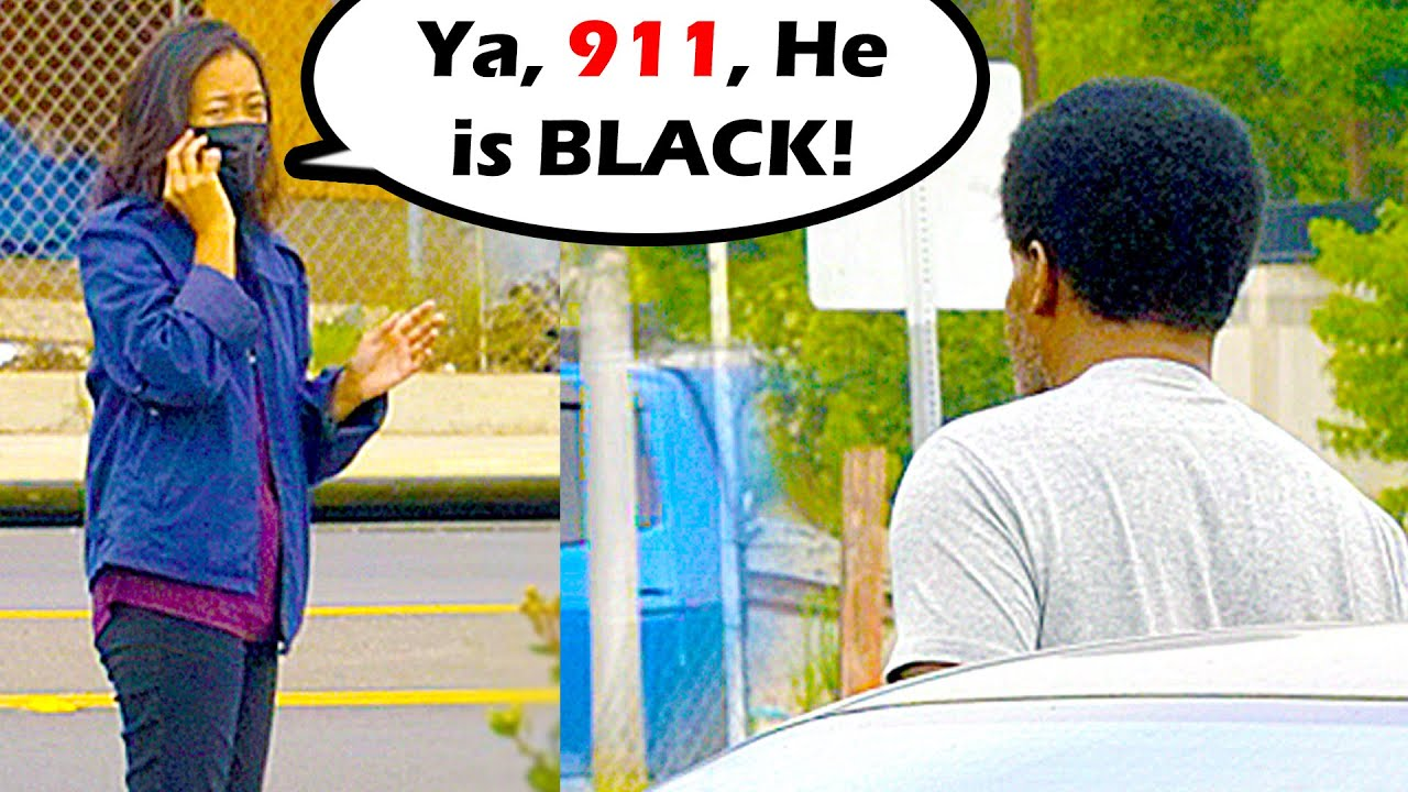 Racism Test - BLACK GUY Locked Out of Car Gets COPS Called on Him