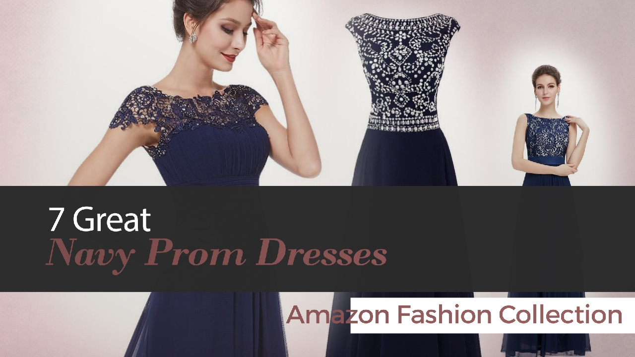 6f3b8b81753 7 Great Navy Prom Dresses Amazon Fashion Collection - YouTube