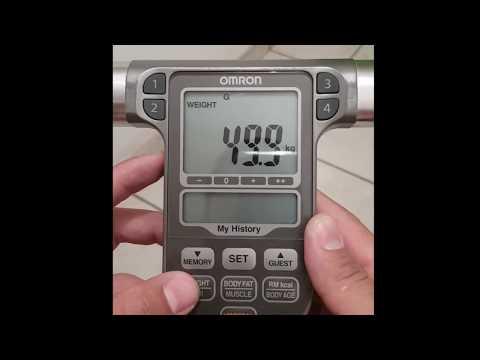 COMO USAR LA BASCULA OMRON HBF-514C