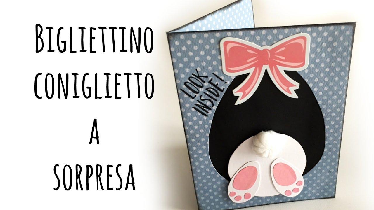 Card Coniglietto Con Sorpresa Pasqua Arte Per Te Youtube