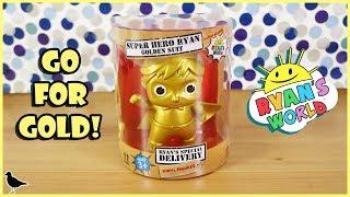 Ryan's World Super Hero Ryan Golden Suit Vinyl Figure Unboxing! Special Delivery   Birdew Reviews