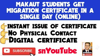 MAKAUT STUDENTS GET MIGRATION ONLINE CERTIFICATE IN A SINGLE DAY