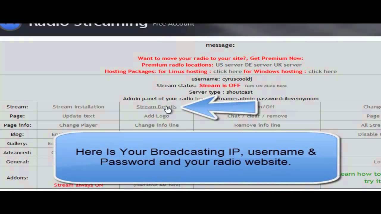 a46e724a441ed How To Get Free SHOUTcast Server Or Radio Server - YouTube